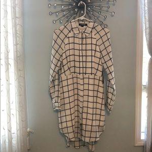 NEW Long sleeve, button down shirt dress